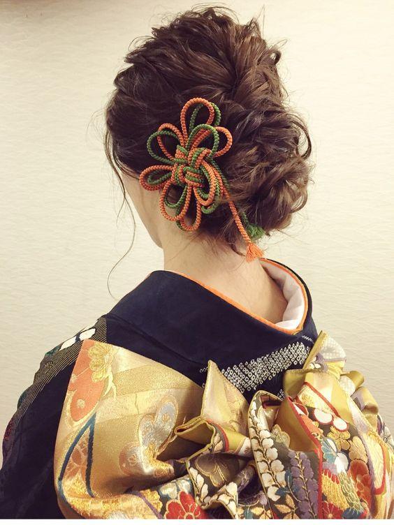 組紐の髪飾り