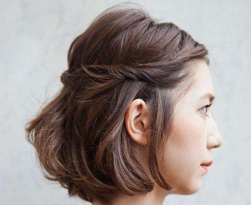 結婚式は自分で髪型をアレンジ♡簡単にできるボブ×ハーフアップの方法♪